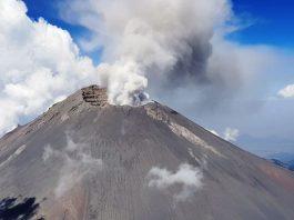 Erupshon di volkan Popocatépetl na Mexico